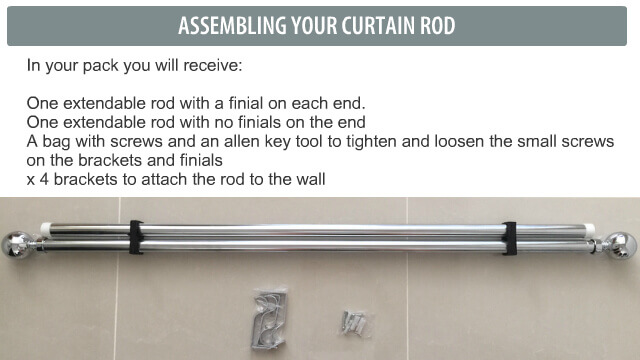 Your rod comes with all the screws and brackets required to install them