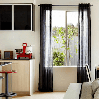 Black Curtains that add WOW to your room