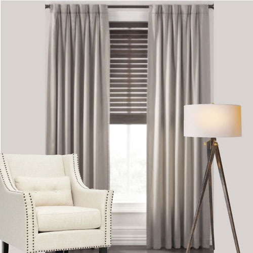 Casa Pinch Pleat Curtains GREY | Quickfit Curtains