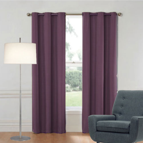 Purple Eyelet Curtains | Ready Made Curtains