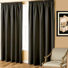 Faux Silk Look Black Curtains Quickfit Curtains