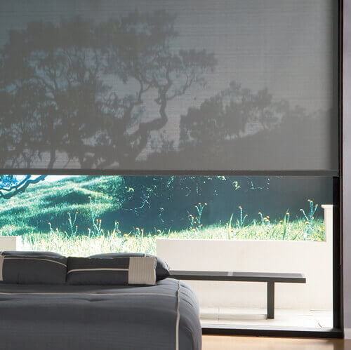 Grey Sun Screen Roller Blind | Quickfit Blinds and Curtains