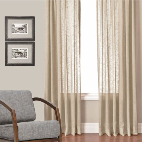 Husk Linen Look Sheer Curtains