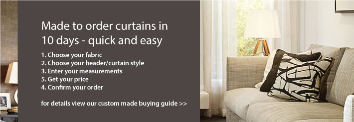 Made to measure curtains in 10 days