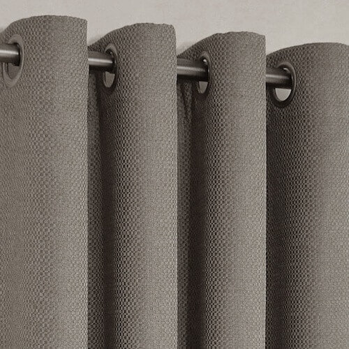 Mountain Linen Look Custom Made Curtains Charcoal | Quickfit Curtains
