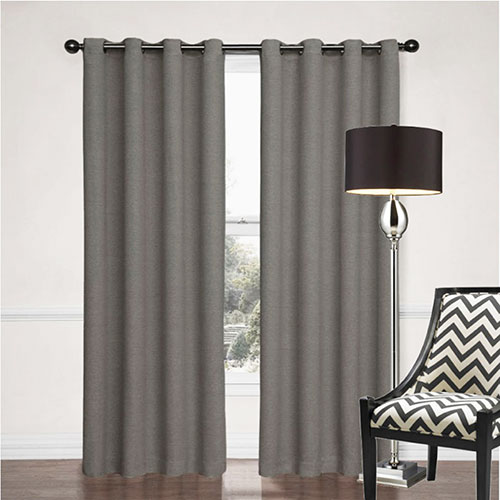 Grey Sorrento eyelet curtain
