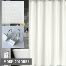 White Commercial Shower Curtain | Quickfit Blinds and Curtains
